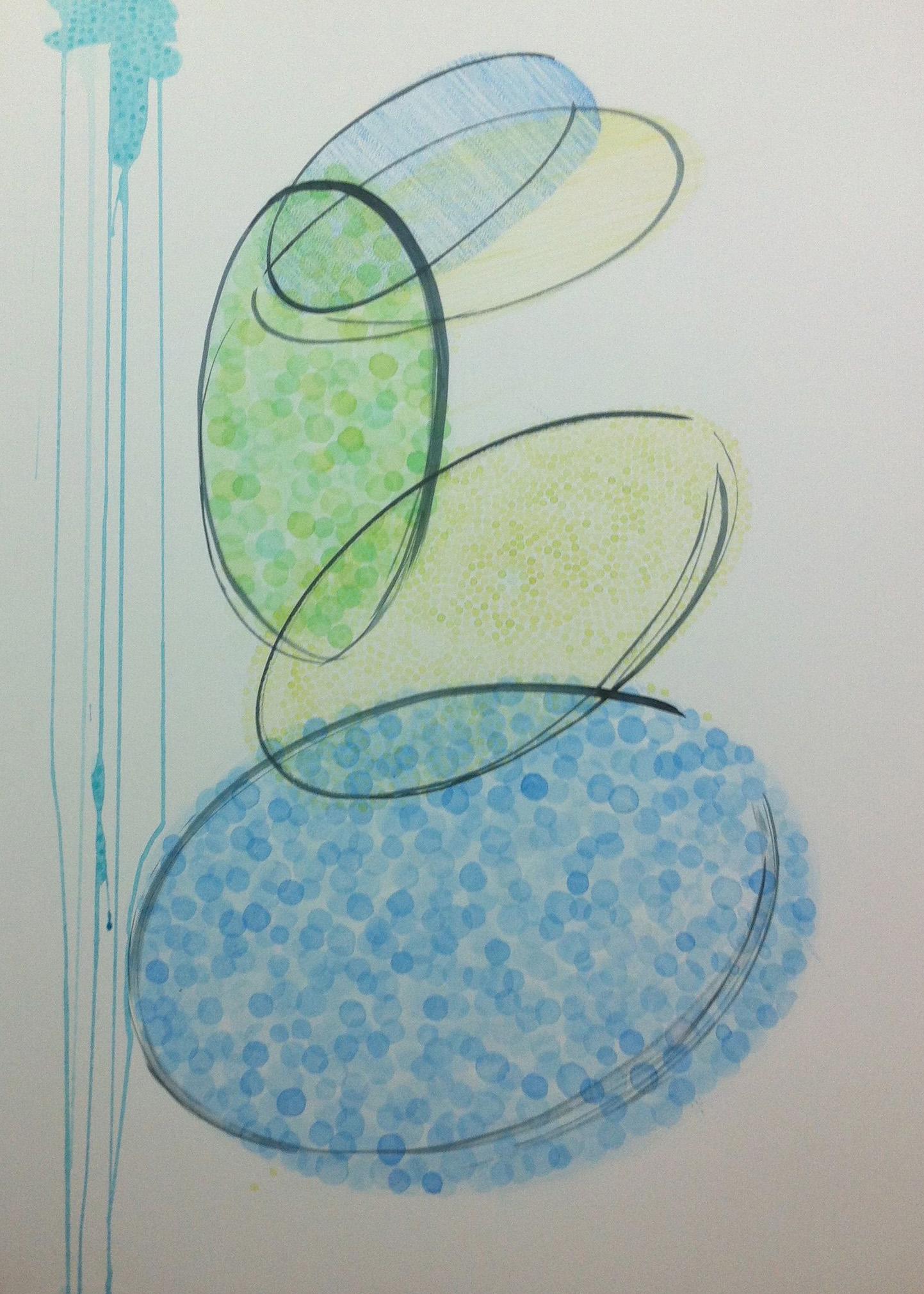 watercolour / ink Board Framed 2014